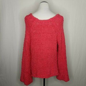 Free People Sweaters - Free People Pink Sand Dune Sweater Fuzzy V Neck